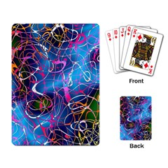 Background Chaos Mess Colorful Playing Card