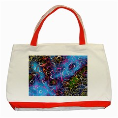 Background Chaos Mess Colorful Classic Tote Bag (red)