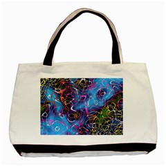 Background Chaos Mess Colorful Basic Tote Bag (two Sides)