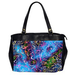 Background Chaos Mess Colorful Office Handbags (2 Sides)