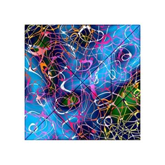 Background Chaos Mess Colorful Acrylic Tangram Puzzle (4  X 4 )