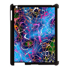 Background Chaos Mess Colorful Apple Ipad 3/4 Case (black)
