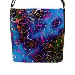Background Chaos Mess Colorful Flap Messenger Bag (l)
