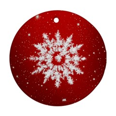 Background Christmas Star Ornament (round)