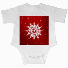 Background Christmas Star Infant Creepers