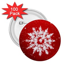 Background Christmas Star 2 25  Buttons (100 Pack)