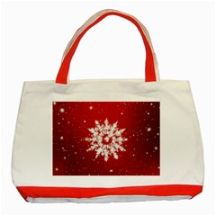 Background Christmas Star Classic Tote Bag (red)