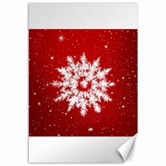 Background Christmas Star Canvas 12  X 18