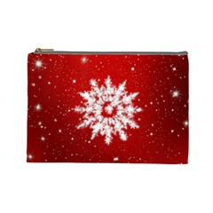 Background Christmas Star Cosmetic Bag (large)