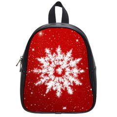 Background Christmas Star School Bag (small)