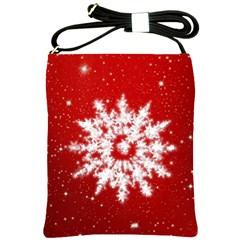 Background Christmas Star Shoulder Sling Bags