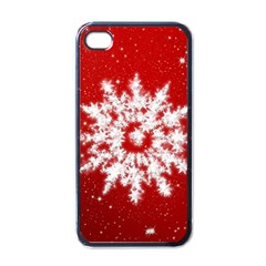 Background Christmas Star Apple Iphone 4 Case (black)