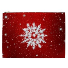 Background Christmas Star Cosmetic Bag (xxl)