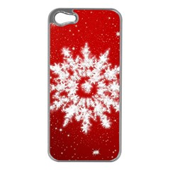 Background Christmas Star Apple Iphone 5 Case (silver)
