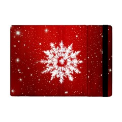 Background Christmas Star Apple Ipad Mini Flip Case