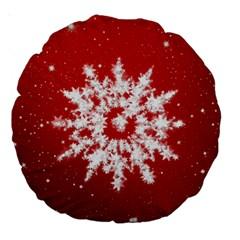 Background Christmas Star Large 18  Premium Round Cushions