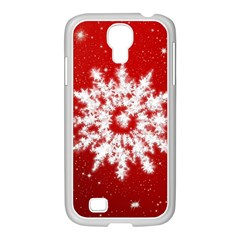 Background Christmas Star Samsung Galaxy S4 I9500/ I9505 Case (white)