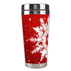 Background Christmas Star Stainless Steel Travel Tumblers