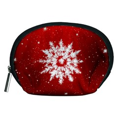 Background Christmas Star Accessory Pouches (medium)