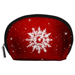 Background Christmas Star Accessory Pouches (large)