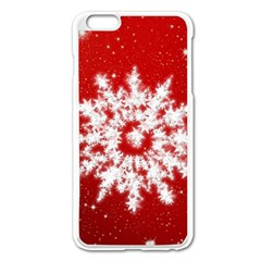 Background Christmas Star Apple Iphone 6 Plus/6s Plus Enamel White Case