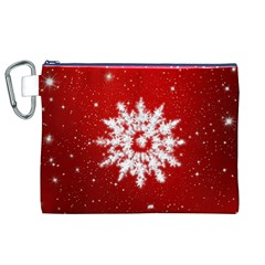 Background Christmas Star Canvas Cosmetic Bag (xl)