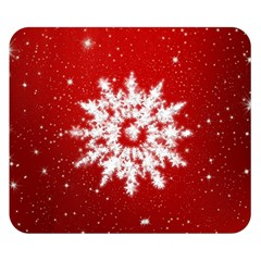 Background Christmas Star Double Sided Flano Blanket (small)