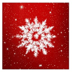 Background Christmas Star Large Satin Scarf (square)