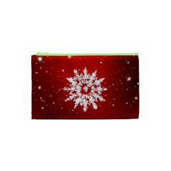Background Christmas Star Cosmetic Bag (xs)