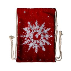 Background Christmas Star Drawstring Bag (small)