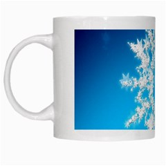 Background Christmas Star White Mugs