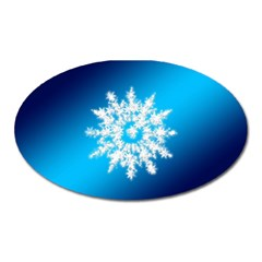 Background Christmas Star Oval Magnet