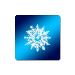 Background Christmas Star Square Magnet