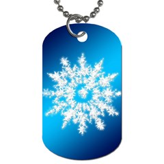 Background Christmas Star Dog Tag (two Sides)