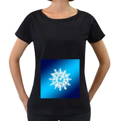 Background Christmas Star Women s Loose Fit T Shirt (black)