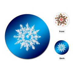 Background Christmas Star Playing Cards (round)