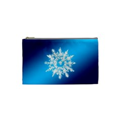 Background Christmas Star Cosmetic Bag (small)