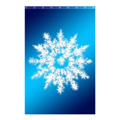 Background Christmas Star Shower Curtain 48  X 72  (small)