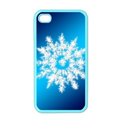 Background Christmas Star Apple Iphone 4 Case (color)