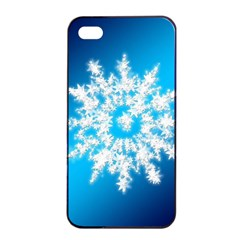 Background Christmas Star Apple Iphone 4/4s Seamless Case (black)