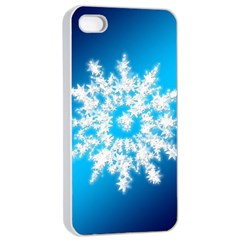 Background Christmas Star Apple Iphone 4/4s Seamless Case (white)