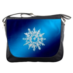 Background Christmas Star Messenger Bags
