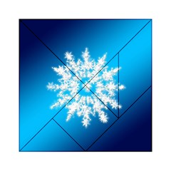 Background Christmas Star Acrylic Tangram Puzzle (6  X 6 )
