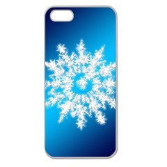 Background Christmas Star Apple Seamless Iphone 5 Case (clear)