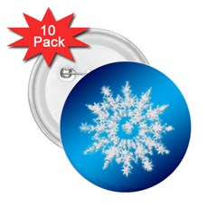 Background Christmas Star 2 25  Buttons (10 Pack)