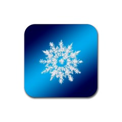 Background Christmas Star Rubber Square Coaster (4 Pack)