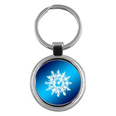 Background Christmas Star Key Chains (round)
