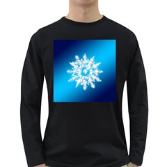 Background Christmas Star Long Sleeve Dark T Shirts