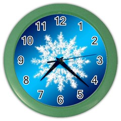 Background Christmas Star Color Wall Clocks