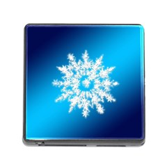 Background Christmas Star Memory Card Reader (square)